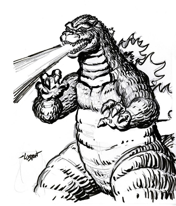 godzilla coloring pages free large images az coloring pages