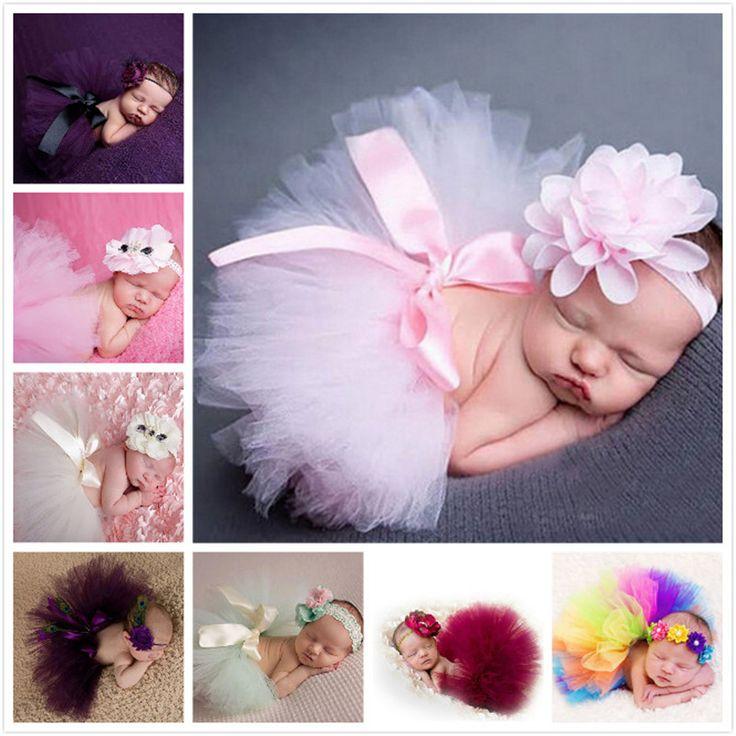 2017 neugeborene fotografie props infant kostüm outfit niedliche prinzessin rock handgemachte häkelarbeit perlen cap stirnband baby mädchen kleid