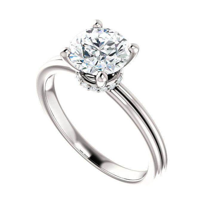 7mm Forever One Moissanite & Diamond Wrap Halo Ring 14k, Diamond Halo, Cyber Monday Black Friday 2016 Engagement Rings, Moissanite Rings USA, UK, Canada, Australia, Los Angeles, Texas, Wedding Jewelry Gifts