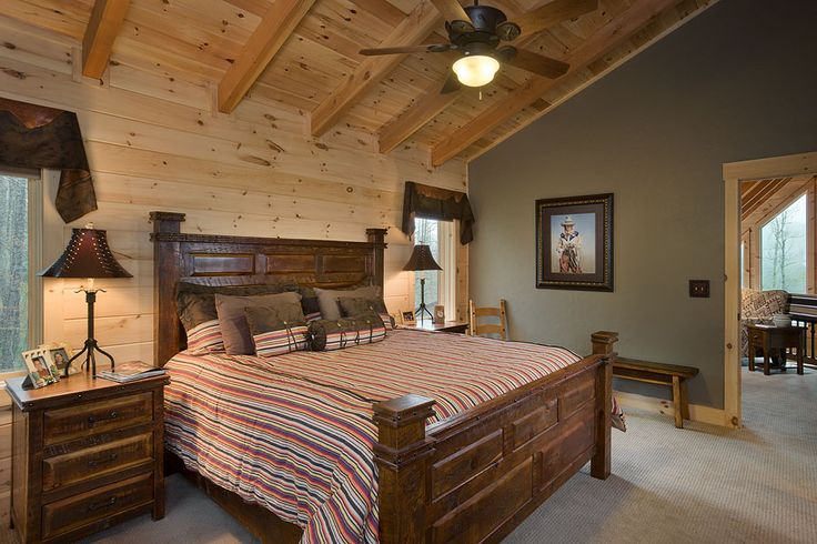 2nd Floor Carpeted Master Bedroom With Douglas Fir Timbers White Pine Tongue Groove Combined
