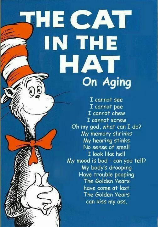 The cutest poem. Embracing the aging years.