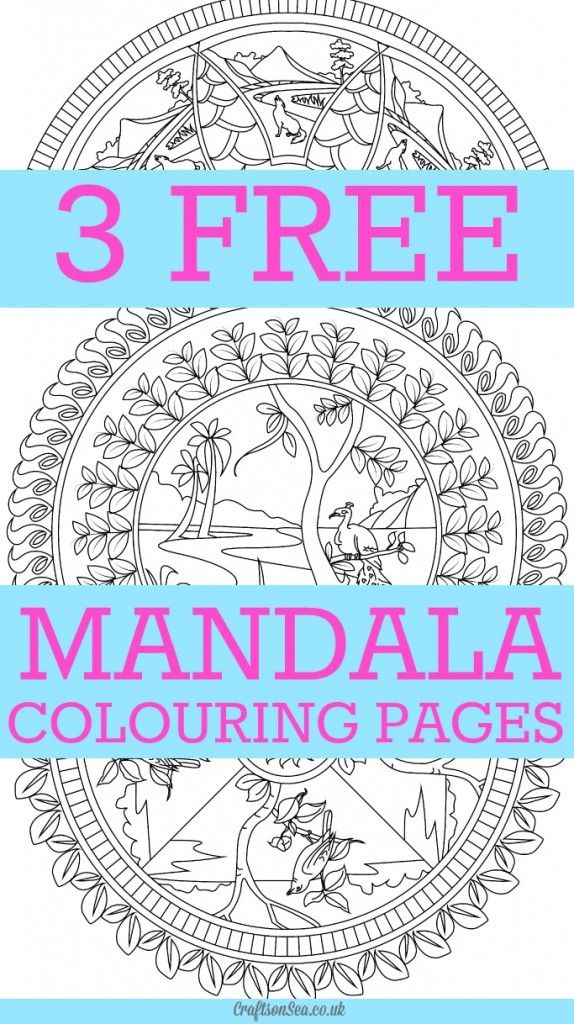 Free Mandala Colouring Pages for Adults - Crafts on Sea