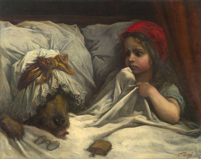 Le petit chaperon rouge, illustré par Gustave Doré : terrifiant !