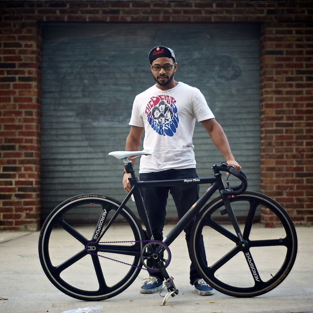 Big Dre and his Super Pista #flickr #fixie #hipster #AEROSPOKE