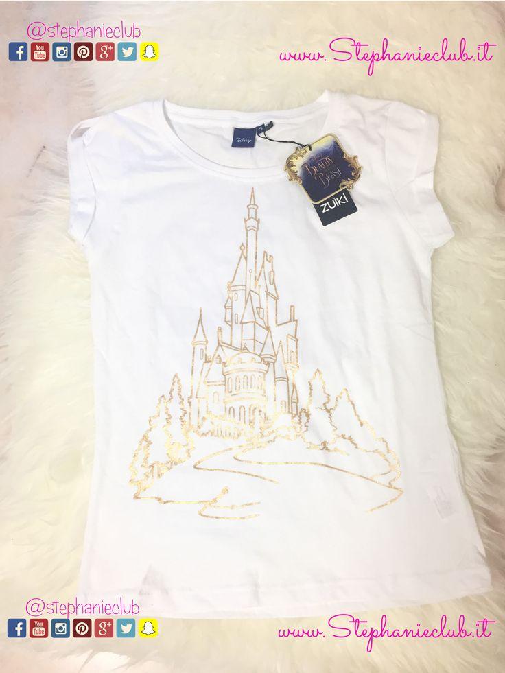 T-Shirt in cotone #ZUIKI in collaborazione con #Disney #LaBellaElaBestia