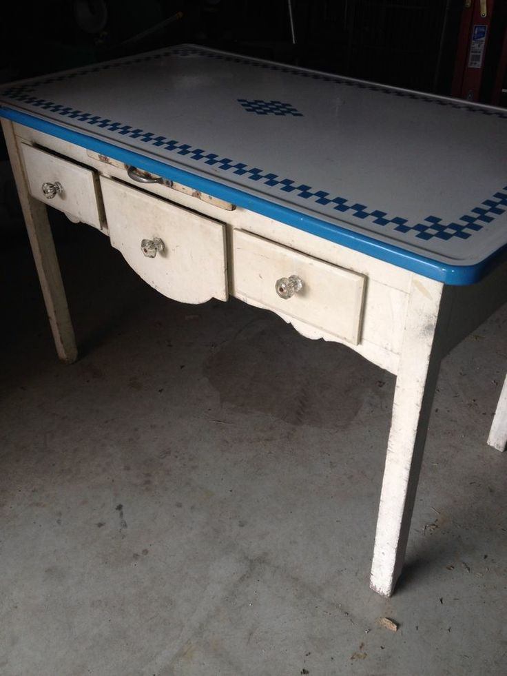 vintage enamel top bakers table - Kitchen Tables Ebay
