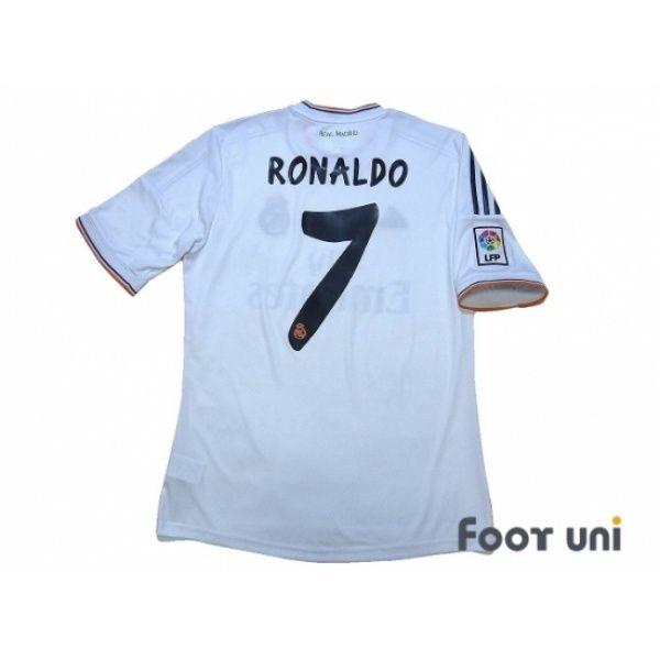 Photo2: Real Madrid 2013-2014 Home Shirt #7 Ronaldo LFP Patch/Badge