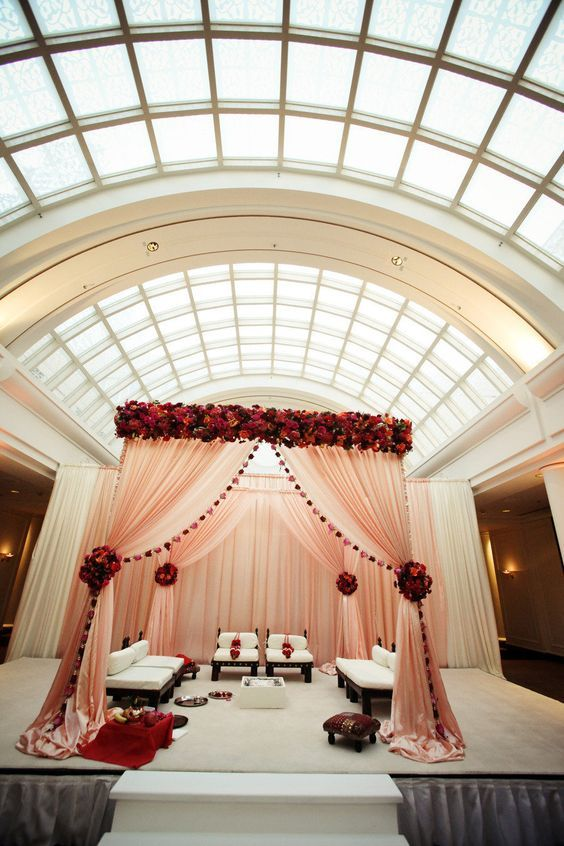 Indian Wedding Mandap idea/ Photography:Alisha + Brook Photographers