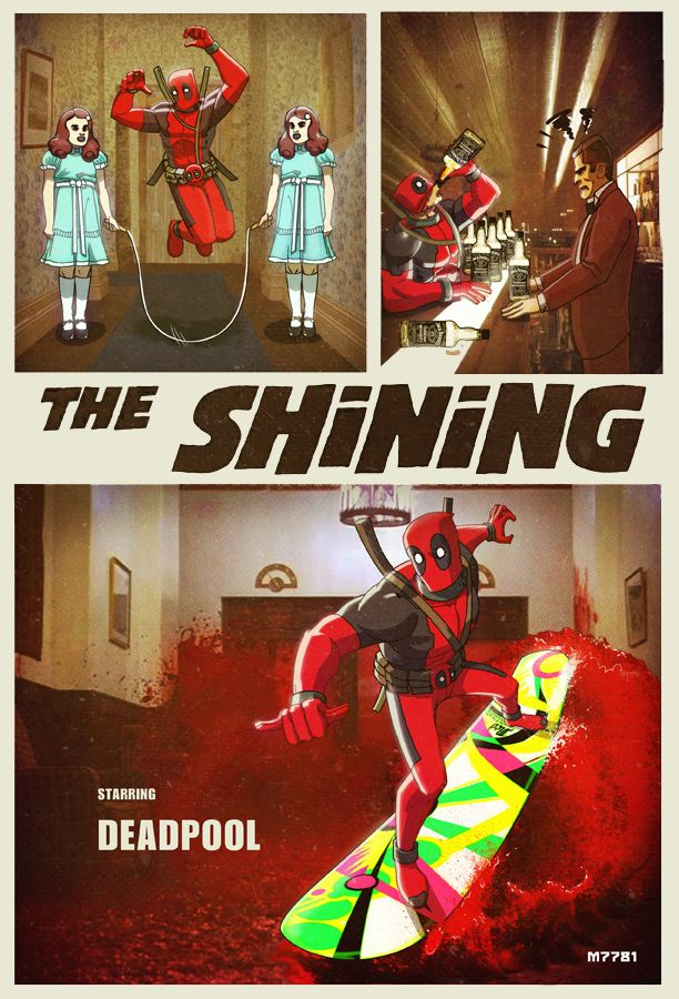 I can totally see Deadpool having a ball I'm the Shining universe xD seriously blood surfing how awesome is that!?