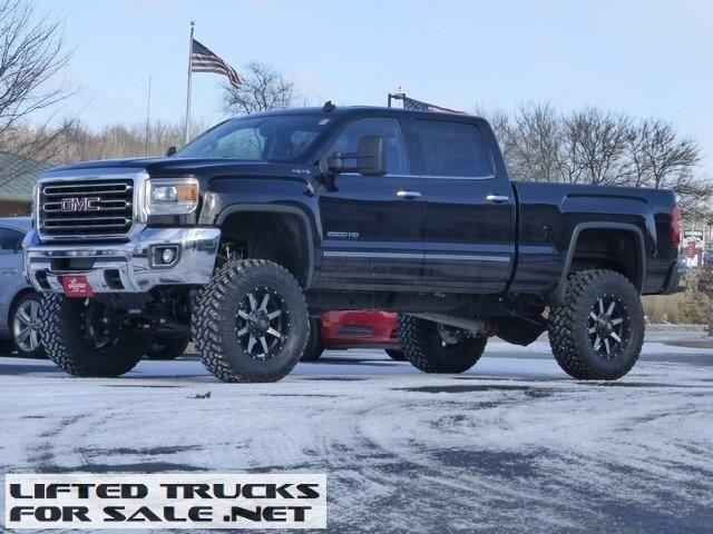 gmc trucks lifted 2015. new lifted black 2015 sierra 2500hd crew cab slt 4x4 gmc trucks