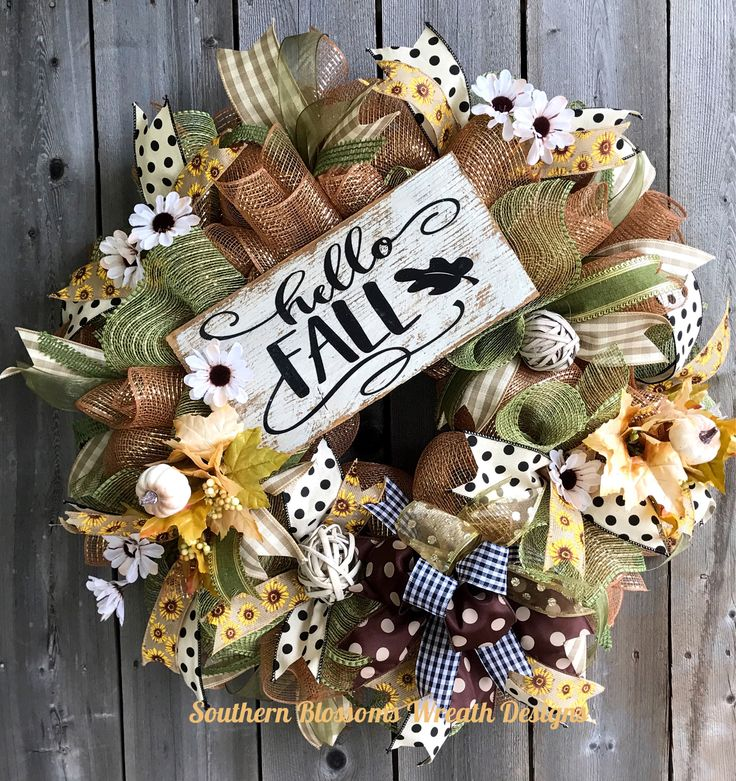 A personal favorite from my Etsy shop https://www.etsy.com/listing/528125512/fall-wreath-hello-fall-wreath-fall-deco