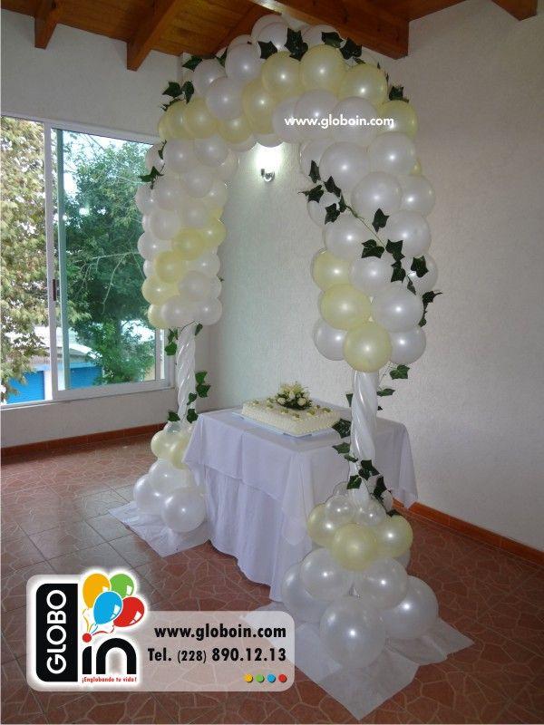 Arco De Globos Para Boda Decoracion De Globos Pinterest Globos - Adornos-con-globos-para-bodas