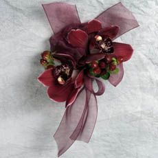 burgundy wedding corsages | burgundy cymbidium orchid corsage burgundy cymbidium orchid corsage ...
