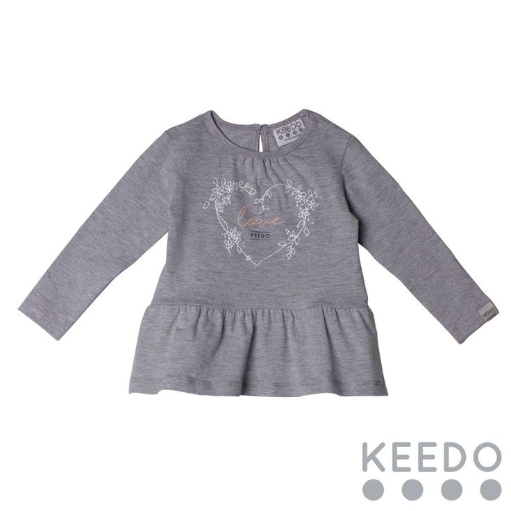 Peplum tee - cute frill detail on this cotton t-shirt will make it a favourite this winter