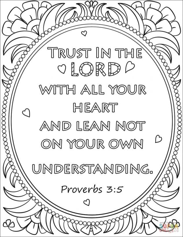 19+ Trust in the lord with all your heart coloring page info