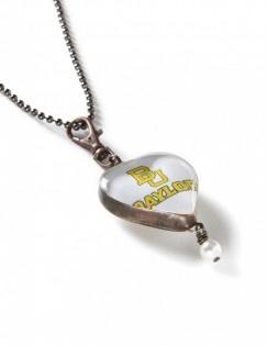 Baylor Bears necklace.Sicem Bears, Bears Sicem, Bears Sic Ems, Sic Ems Bears, Bears Necklaces, Bears Stuff, Bears Heart, Baylor Bears
