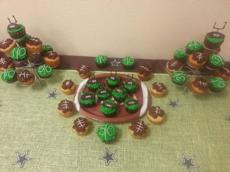 Football Themed Baby Shower Cupcakes. Great Job Priscilla!