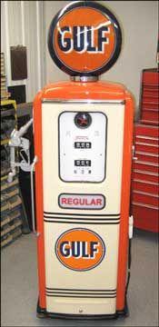 Restored Antique Gas Pumps & Lights for Sale