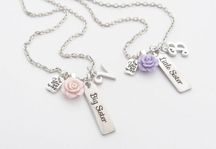 BIG SISTER NECKLACE-New Big Sister Gift-Personalized Big Sister Bar Necklace-New Sibling GIft-Future Big Sister Gift-Big Sister Bar Jewelry-
