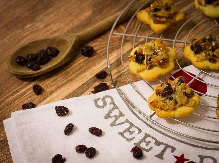 Mandel Cranberry Florentiner Kekse