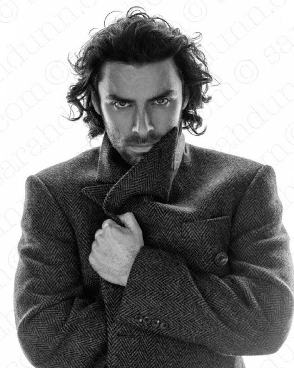 "themissingmink: "" Aidan Turner by Sarah Dunn Source: Instagram Thoughts? @shiparker @alicebhatt @annaania01 @ava-candide "" Wow! I LOVE this. The hair…the coat. Lovely."