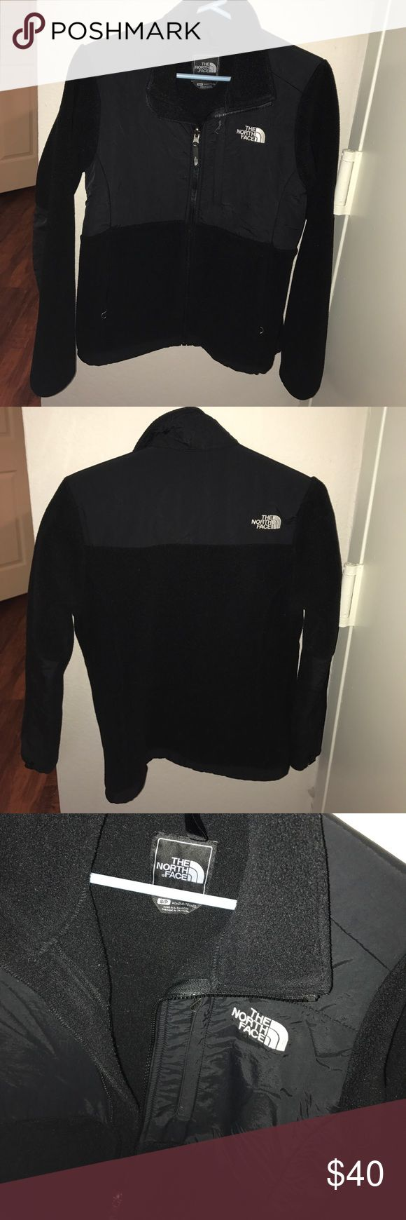 Women's North Face Jacket Women's North face fleece sweater/ jacket. Size women's small. Some west but overall good condition. Style is Denali. The North Face Jackets & Coats