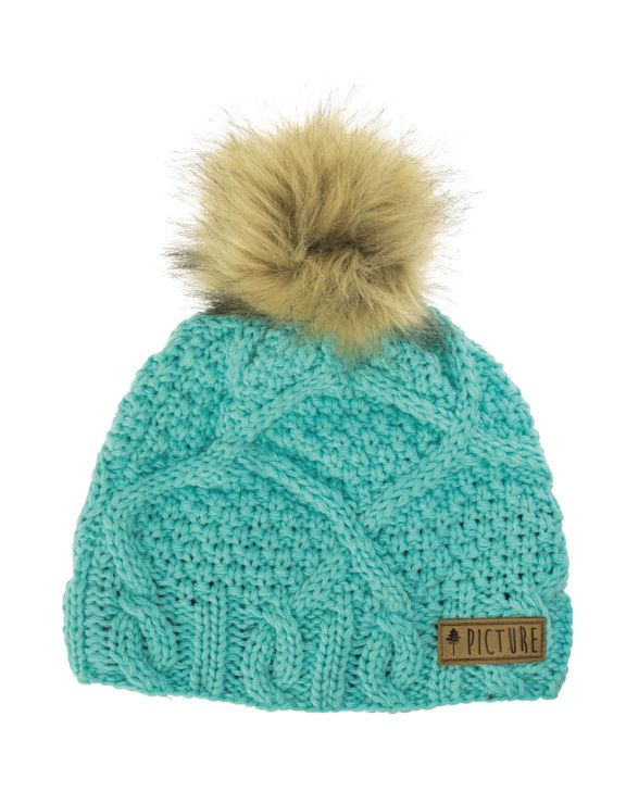 Picture Organic Clothing Winter, Snowboard Ski Beanie, Judy, Mint Green | f riders inc
