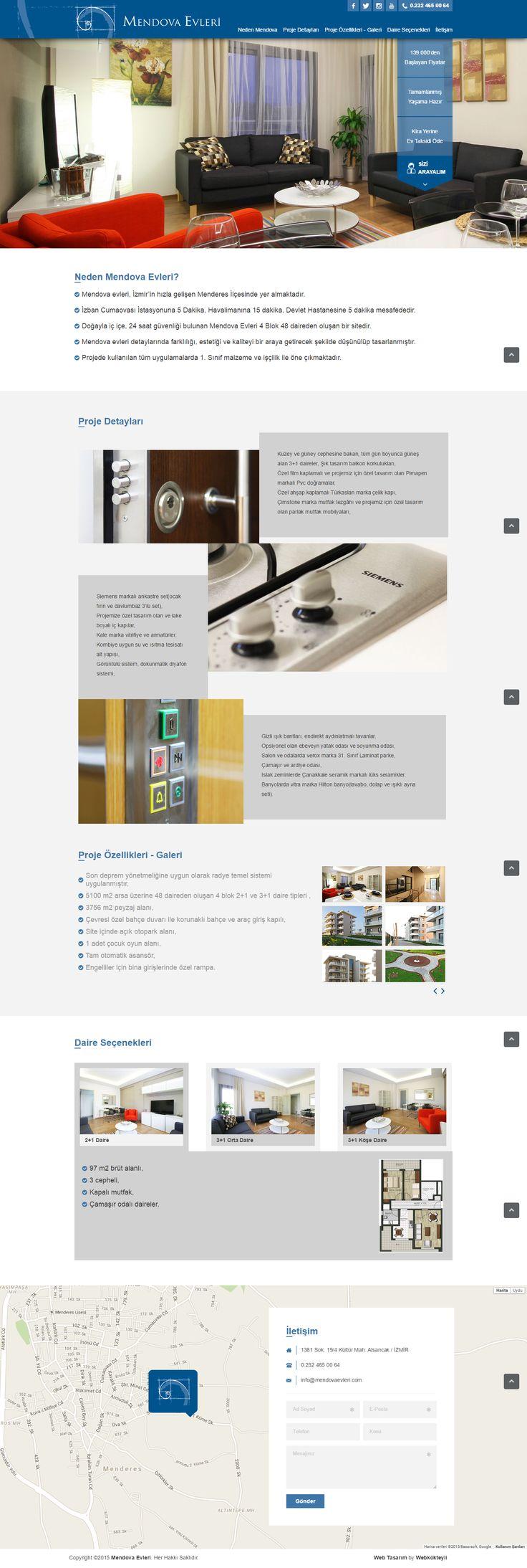 Mendova Evleri | Web Tasarım