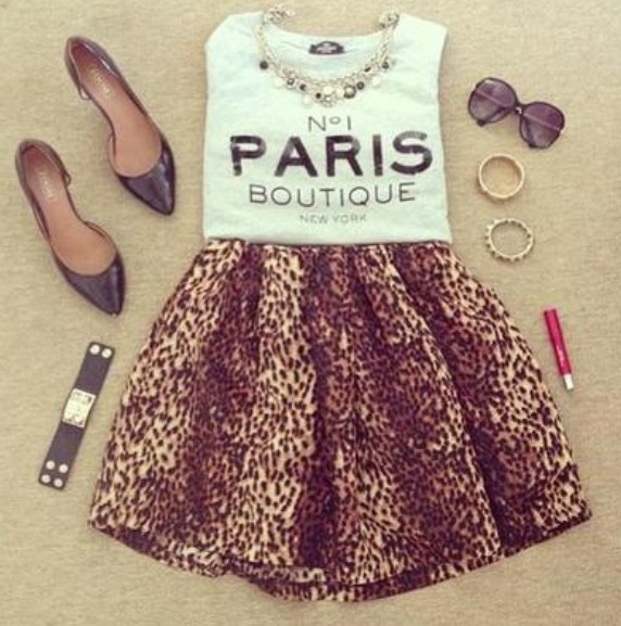 Teen Fashion Tumblr My Style Pinterest Cheetah Print Skirts And Teen Fashion