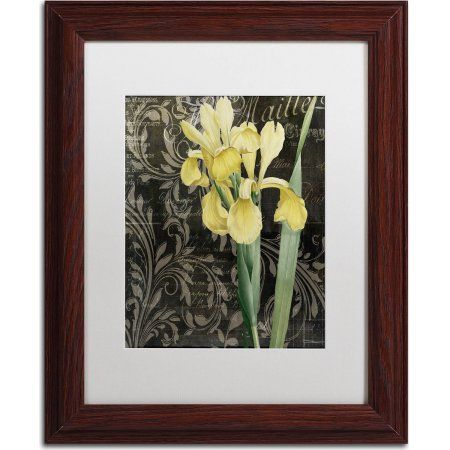Trademark Fine Art Ode to Yellow Flowers Canvas Art by Color Bakery, White Matte, Wood Frame, Size: 11 x 14, Assorted