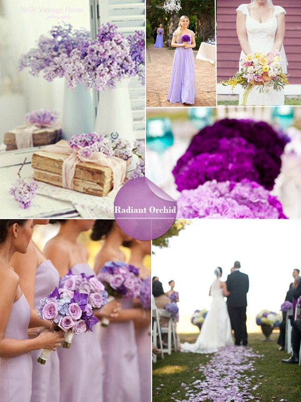 spring 2014 wedding colors - radiant orchaid wedding ideas