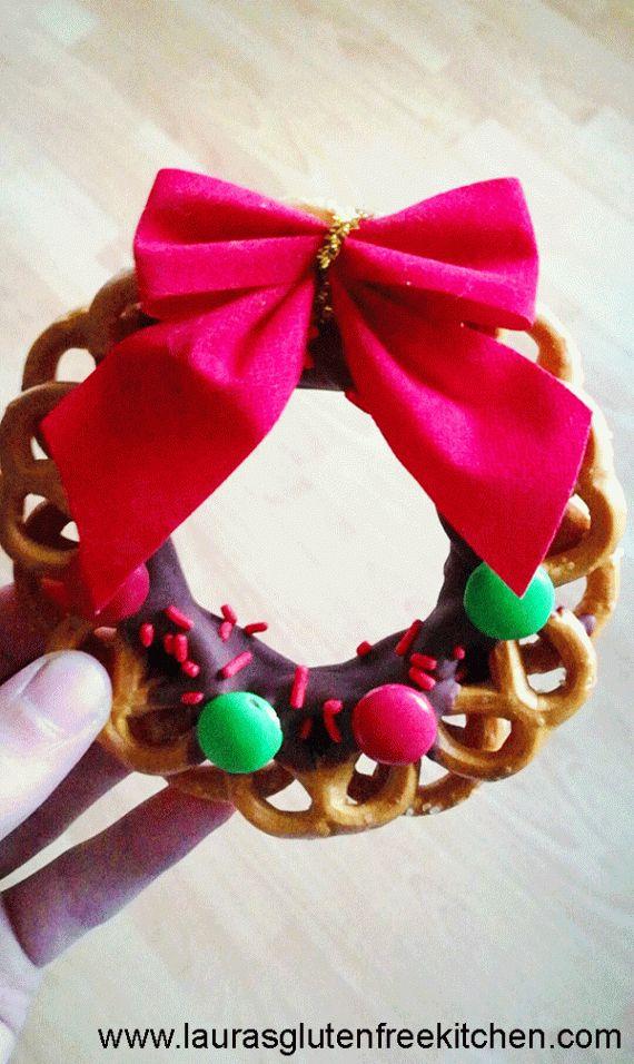 Gluten Free Chocolate Dipped Pretzel Wreath