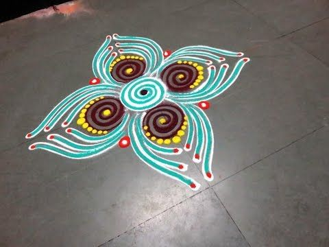 how to make new latest rangoli design - created by latest rangoli - YouTube