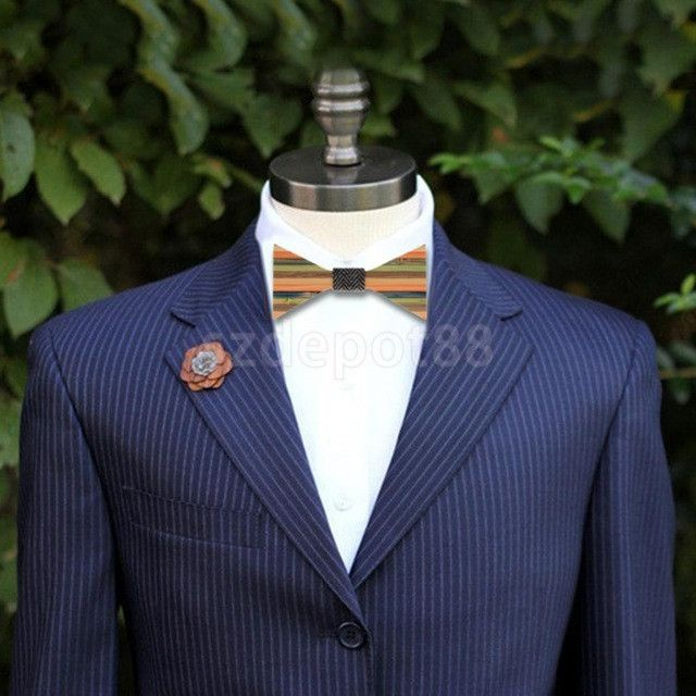 Men's Groom Wedding Bow Tie Wooden Tuxedo Suit Business Necktie Fashion Novelty Gifts