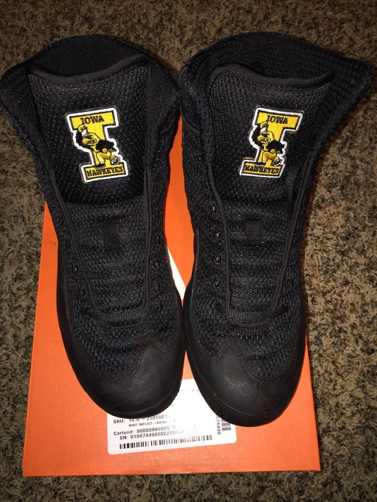 Iowa Hawkeyes Nike Inflict Wrestling Shoes | eBay