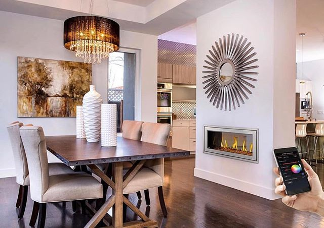You can control this Napoleon fireplace from the comfort of your couch from your mobile device! The Vector series can match any interior design style with the dozens of media options that are available. #fireplace #fireplacedecor #fireplaceweather #interiordesign #interior #stlouisarchitecture #stlouisinteriordesign #stlouisfireplace #luxuryhome #luxuryhomes #luxury #linearfireplace #linear #stlouis #stlouismissouri #stlouisstyle #stlouishomes - posted by C Bennett Building Supplies…
