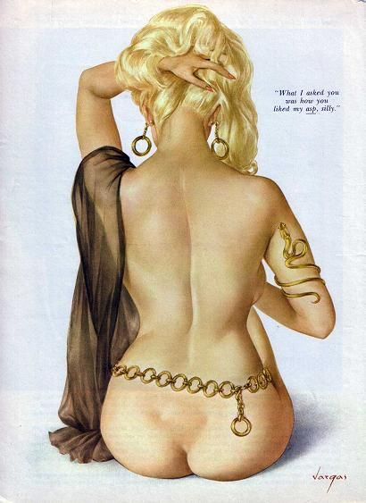 """Alberto Vargas  - Playboy- """"What I asked you was how you liked my asp, silly!"""""""