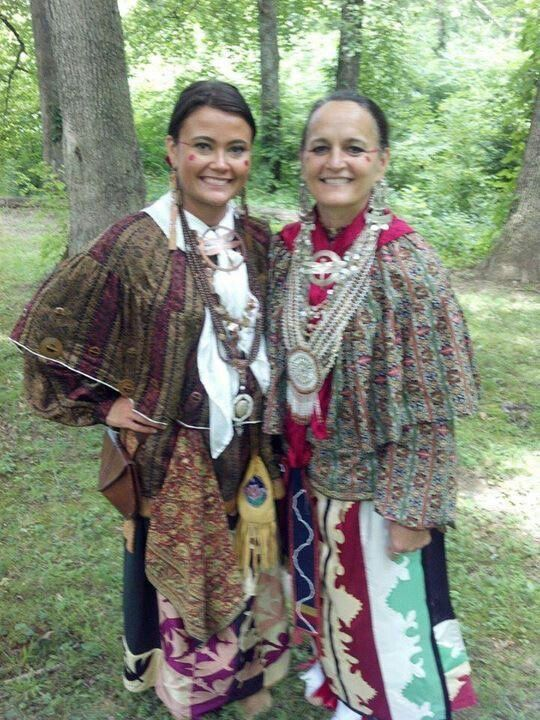 Two beautiful Shawnee women in traditional clothing