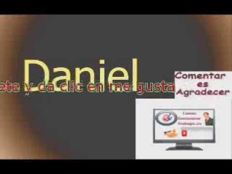 Significado del Nombre, Daniel