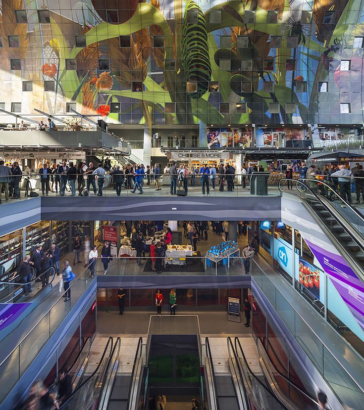 Best Market Images On Pinterest Architecture Buildings And - Incredible 36000 sq ft mural lines ceiling market hall rotterdam