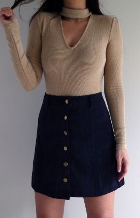 BRITTANY SKIRT - NAVY