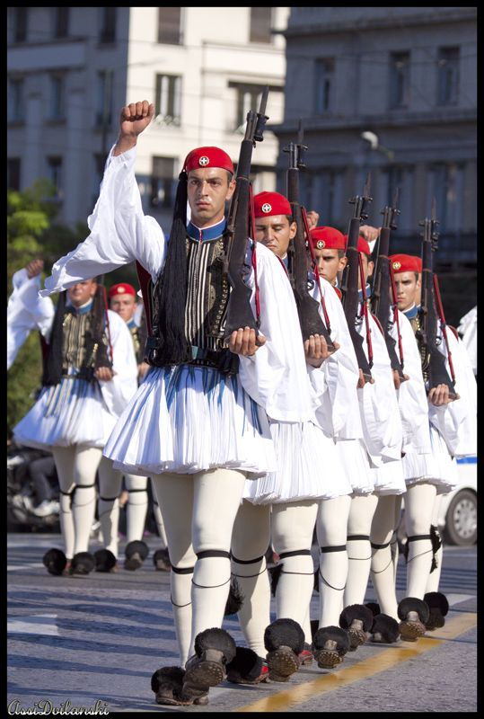 Evzones, Presidential Guard, Athens, Greece- Proedriki Froura by asival