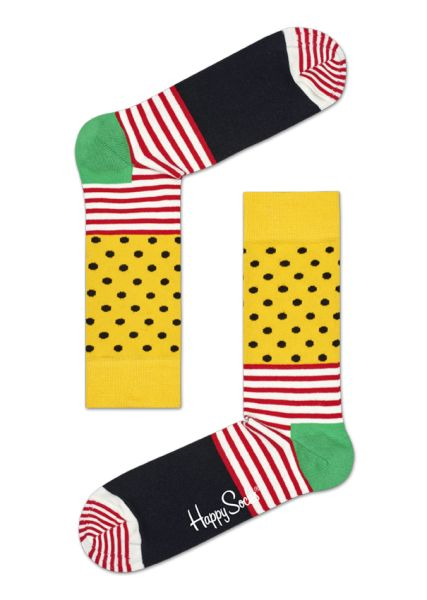stylish & fun Stripe Dot cotton Socks in crazy colors!
