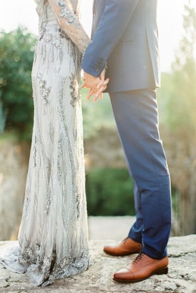 Gorgeous dress: http://www.stylemepretty.com/2015/01/30/whimsical-summer-wedding-with-custom-silver-dress/ | Photography: Peter & Veronika -http://peterandveronika.com/
