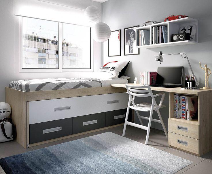 Dormitorio juvenil compacto (237 – J41) - Muebles CASANOVA