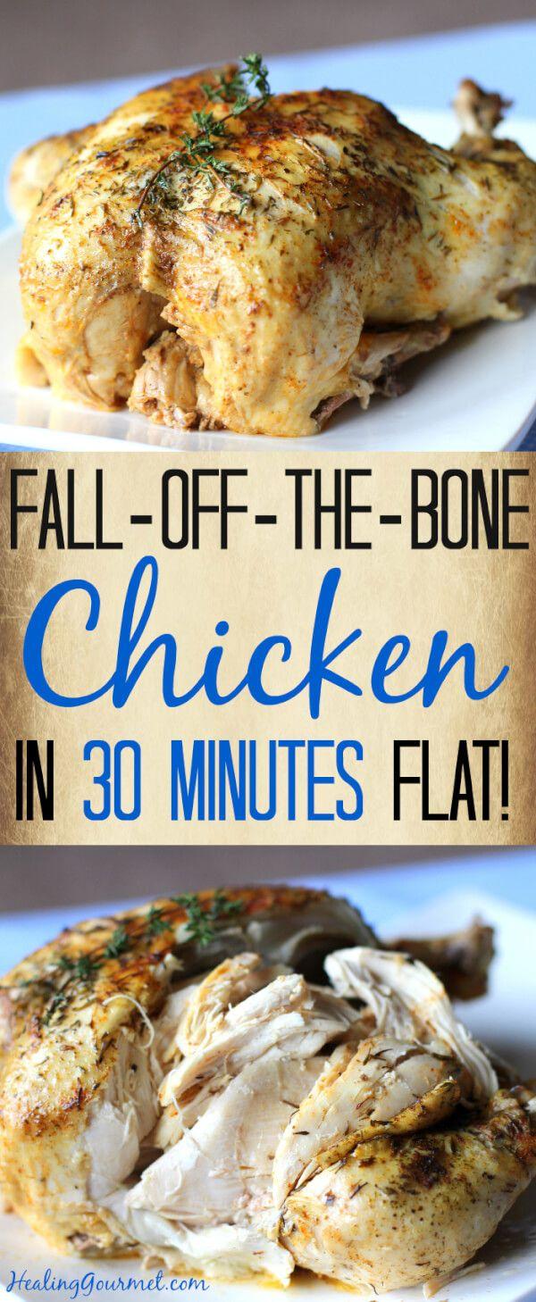 Glluten-Free Fall-Off-The-Bone Pressure Cooker Chicken (in 30 Minutes!) Recipe