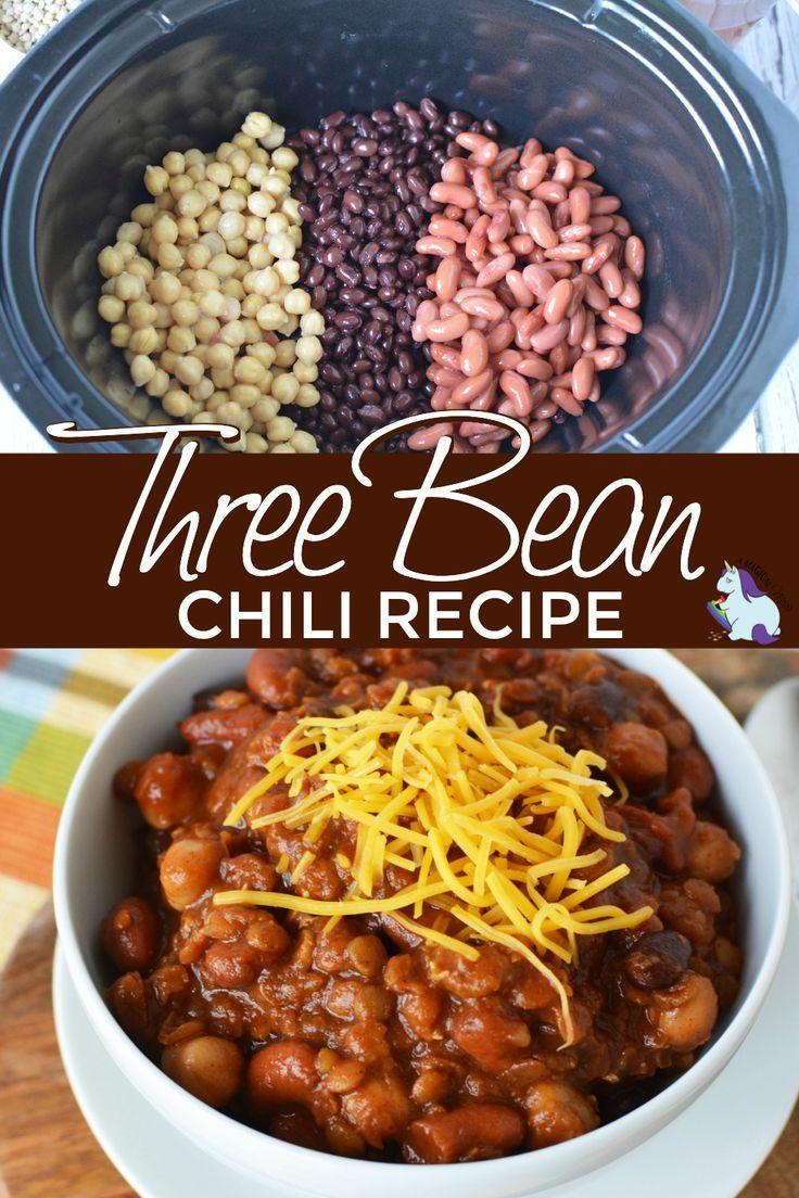 Three Bean Slow Cooker Chili Recipe Recipe Slow Cooker Chili Recipe Three Bean Chili Recipe Slow Cooker Chili