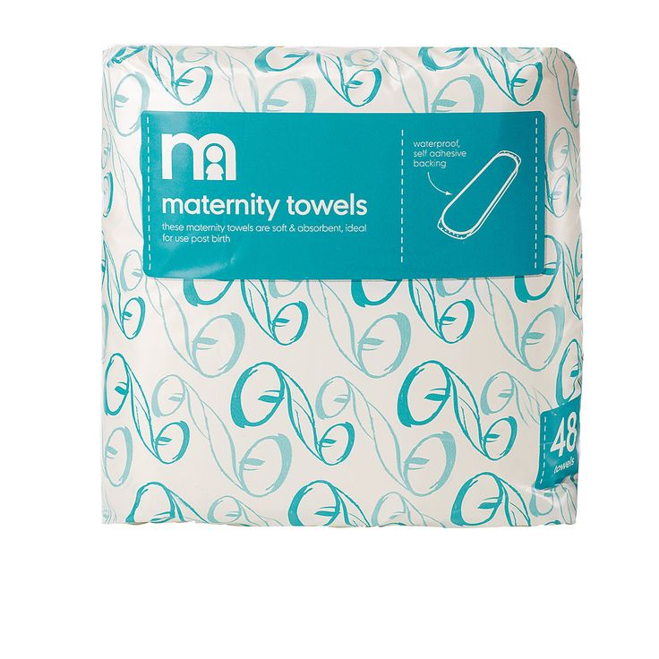 Mothercare Maternity Towels With Wings- 24 Pack - new mum essentials - Mothercare