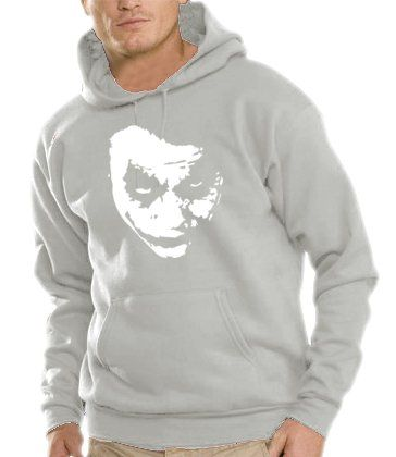 Touchlines Herren Kapuzen Sweatshirt Heath Ledger - JOKER, heather grey, S, B7138
