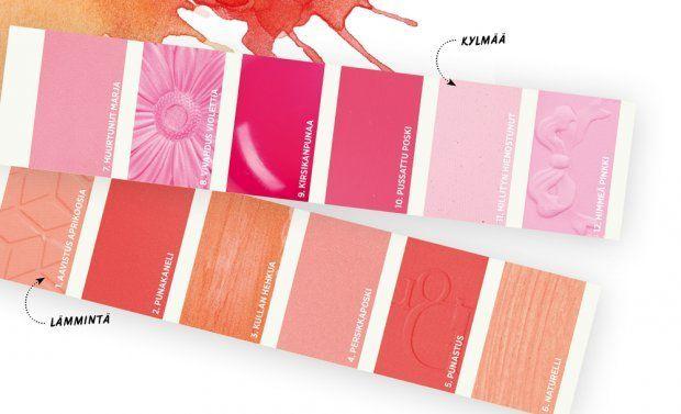 Kevään meikkisävyjen värikartta   Me Naiset
